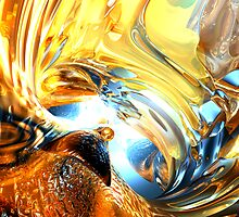 Glass Tidal Wave Abstract  by Alexander Butler