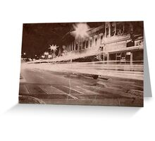 Old Light Streaks Greeting Card