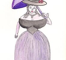 Exaggerated Victorian Era Lady  by SteveHanna