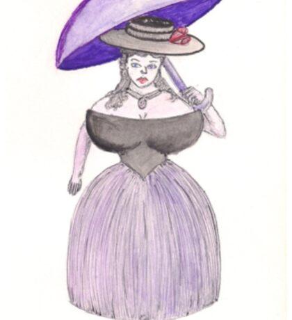 Exaggerated Victorian Era Lady  Sticker