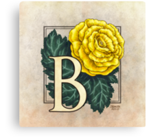 B is for Begonia Canvas Print