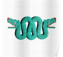 Icons - Aztec Snake by Pierre Blanchard Poster