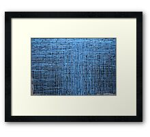 Abstract textured blue background Framed Print
