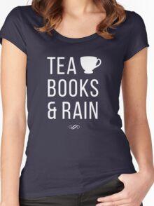 Tea Books & Rain Women's Fitted Scoop T-Shirt