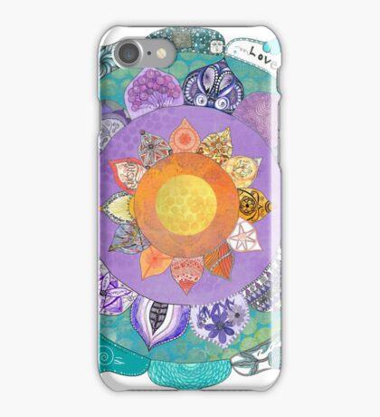 Community Mandala - Radiant Lotus Mandala iPhone Case/Skin