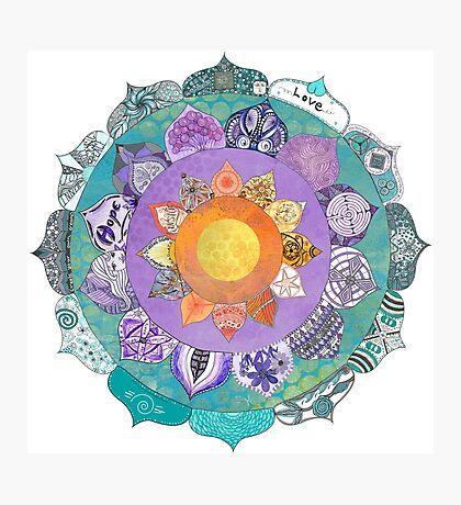 Community Mandala - Radiant Lotus Mandala Photographic Print