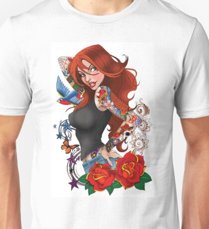 Tattoo Girl Unisex T-Shirt