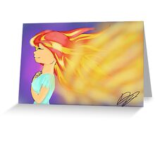 Sunset Shimmer  Greeting Card