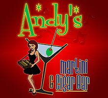 Andy's Cigar and Martini Bar Sign by Andrew Knapik