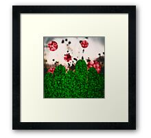 Pixel Berries Framed Print