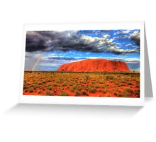 Raining on the Rock Greeting Card