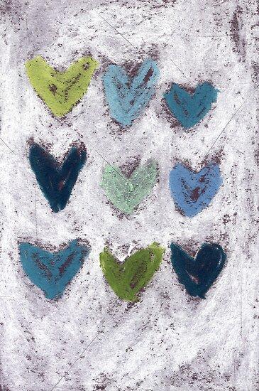 Happy Hearts No. 6 by Tine  Wiggens