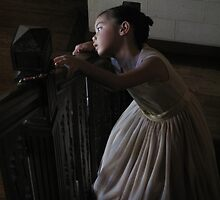 Ananda by the stairs by Jim  Paredes