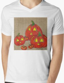Lantern Patch Mens V-Neck T-Shirt
