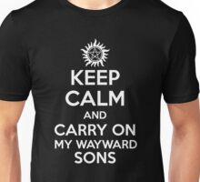 KEEP CALM - Carry On My Wayward Sons // Supernatural Unisex T-Shirt
