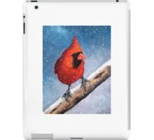 Red Cardinal Bird in the Snow iPad Case/Skin