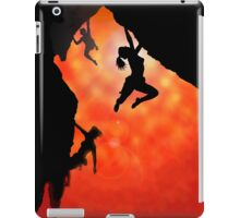 rock climbing in the sun iPad Case/Skin