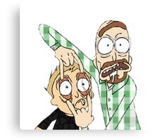 Rick and Morty / Breaking Bad  Canvas Print