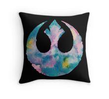 Watercolor Rebel Alliance (black) Throw Pillow