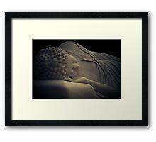 Buddha Entering Nirvana - Pho-Da Temple Garden - Memphis, Tennessee Framed Print