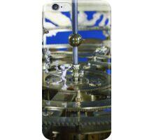 Golden metal cogwheels inside clockwork iPhone Case/Skin