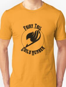 Fairy Tail Guild Member- Black Text T-Shirt