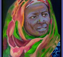 African Lady With Colorful Bandanna by Noel78