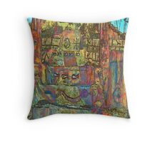 Temple to Psychedelia  Throw Pillow