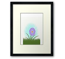 Abstract Daisy Framed Print