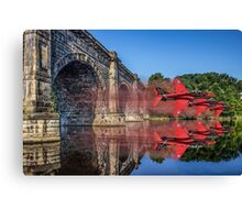 Red Arrows through the aqueduct Canvas Print