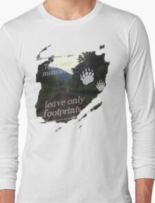 Take Only Memories Leave Only Footprints Long Sleeve T-Shirt