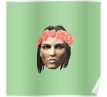 Lydia Flower Crown Poster