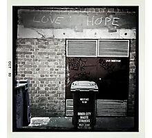 Love / Hope Photographic Print