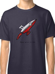 Red Rocket Ship Classic T-Shirt