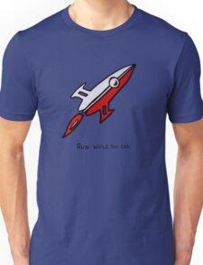 Red Rocket Ship Unisex T-Shirt