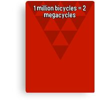 1 million bicycles = 2 megacycles Canvas Print