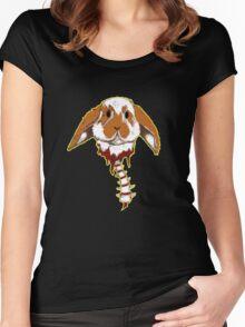 Pensive Rabbit Women's Fitted Scoop T-Shirt