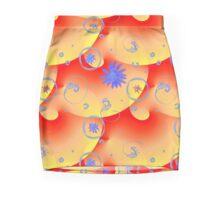 Retro Floral Bubbles-Alternate Palette Mini Skirt