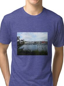 Boats and Houses - Stornoway, Isle of Lewis Tri-blend T-Shirt