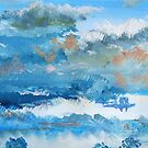 Colorful Coudy Evening Sky Painting by MikeJory