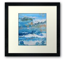Colorful Coudy Evening Sky Painting Framed Print