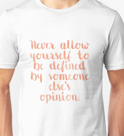 Defined Quote Unisex T-Shirt