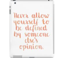 Defined Quote iPad Case/Skin
