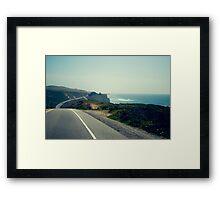 CA 1 Coast Line Framed Print