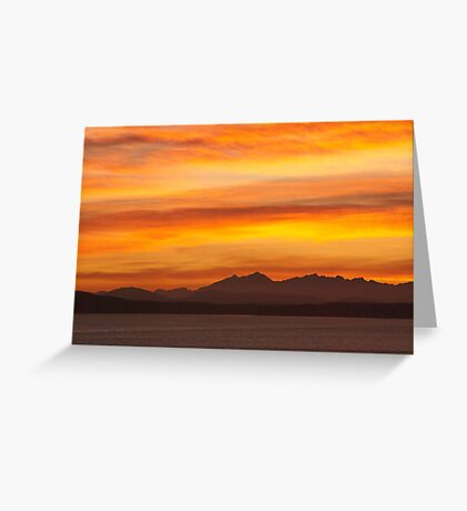 Seattle's Puget Sound Sunset Greeting Card