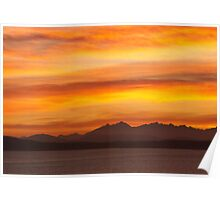 Seattle's Puget Sound Sunset Poster