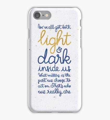 Light and dark inside us iPhone Case/Skin