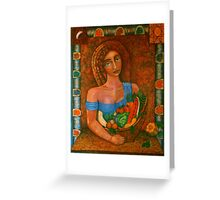 Flora - Goddess of the Seeds  Greeting Card