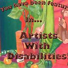 feature tag for artists with disabilities by Lacey Scarbro