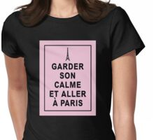Keep Calm and Visit Paris   in French Womens Fitted T-Shirt